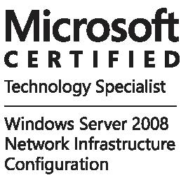 Certificado Microsoft profissional server 2008
