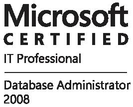 Certificado Microsoft profissional database 2008