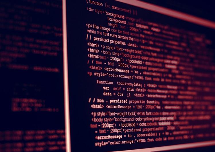 Tela de programação de software